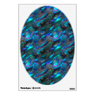 Mother Of Pearl Texture Blue Photo Pattern Wall Decal