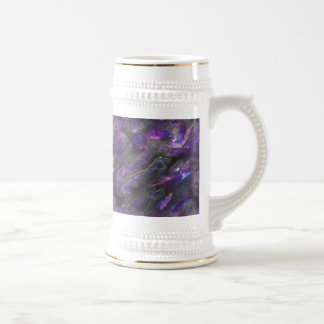 Mother Of Pearl Texture Purple Photo Pattern Beer Stein