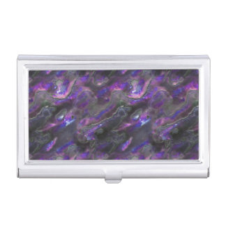 Mother Of Pearl Texture Purple Photo Pattern Case For Business Cards