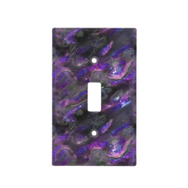 Beach Themed Mother Of Pearl Texture Purple Photo Pattern Light Switch Cover