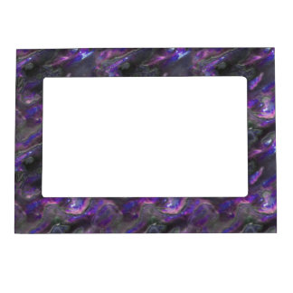 Mother Of Pearl Texture Purple Photo Pattern Magnetic Picture Frame