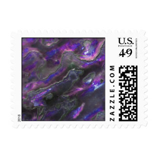 Mother Of Pearl Texture Purple Photo Pattern Stamp