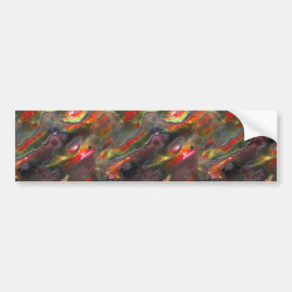 Mother Of Pearl Texture Red Photo Pattern Bumper Sticker