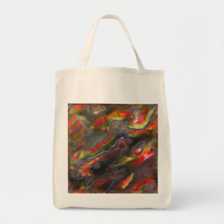 Mother Of Pearl Texture Red Photo Pattern Tote Bag