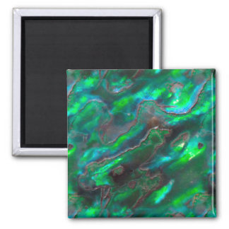 Mother Of Pearl Texture Teal Photo Pattern Magnet