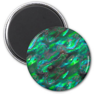 Mother Of Pearl Texture Teal Photo Pattern Refrigerator Magnet