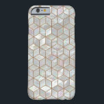 "Mother Of Pearl Tiles Barely There iPhone 6 Case<br><div class=""desc"">The image of a beautiful mother of pearl mosaic in a geometric cube pattern.</div>"