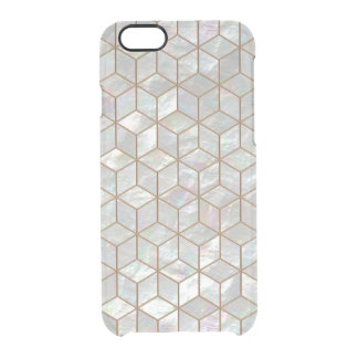Mother Of Pearl Tiles Clear iPhone 6/6S Case
