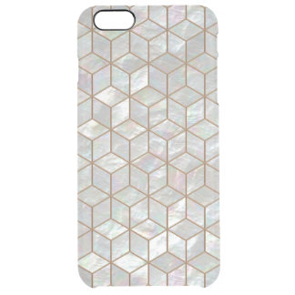 Mother Of Pearl Tiles Clear iPhone 6 Plus Case