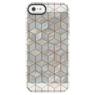 Mother Of Pearl Tiles Clear iPhone SE/5/5s Case
