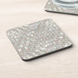 Mother Of Pearl Tiles Beverage Coaster