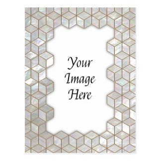 Mother Of Pearl Tiles Frame Post Card