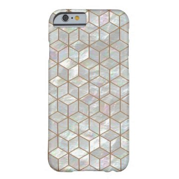 Mother Of Pearl Tiles iPhone 6 case at Zazzle