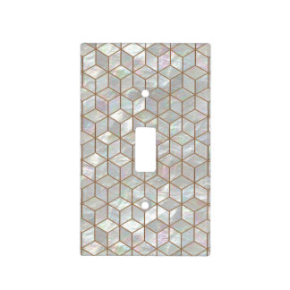 Mother Of Pearl Tiles Light Switch Cover