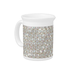Mother Of Pearl Tiles Pitcher
