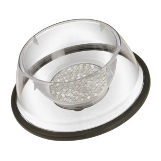 Mother Of Pearl Tiles Pet Bowl