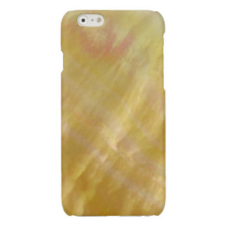 Mother of pearl tones gold glossy iPhone 6 case