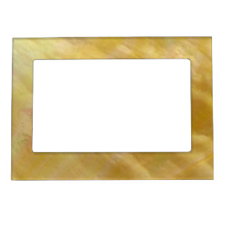 Mother of pearl tones gold magnetic picture frame
