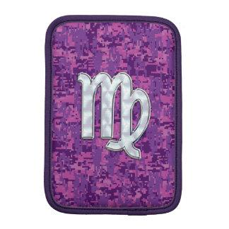 Mother of Pearl Virgo Zodiac on Pink Digital Camo iPad Mini Sleeve