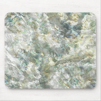 Mother Of Pearl White Abstract Swirl Mouse Pad