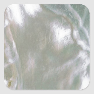 Mother of Pearl-White Square Sticker