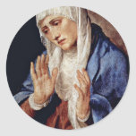 Mother Of Sorrows By Tizian Round Sticker