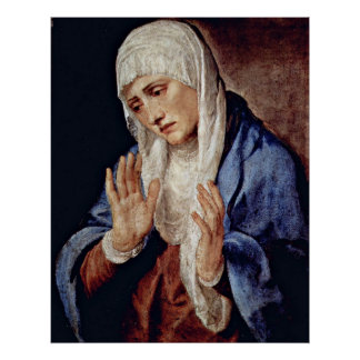 Mother of Sorrows by Tiziano Vecelli Posters