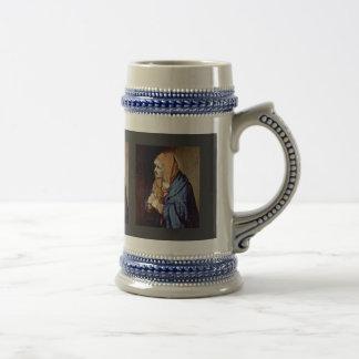 Mother Of Sorrows In Prayer By Tizian Mug