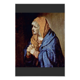 Mother Of Sorrows In Prayer By Tizian Posters