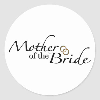 Mother Of The Bride 2 Classic Round Sticker
