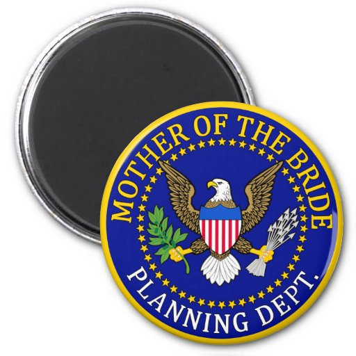 Mother Of The Bride 2 Inch Round Magnet