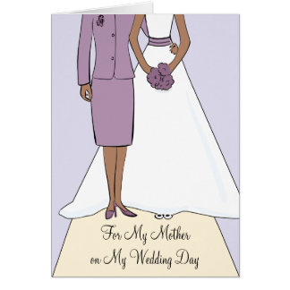 Mother of the Bride African American Thank You Greeting Card