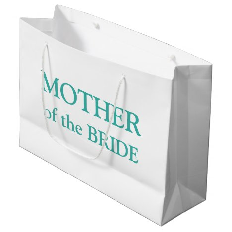 Mother of the Bride Aqua White Large Gift Bag