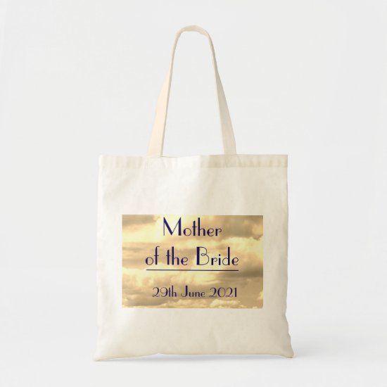 Mother of the Bride Art Deco Sepia Cloud Tote Bag