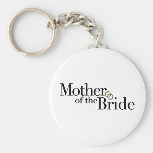 Mother Of The Bride Basic Round Button Keychain