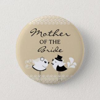 Mother of the Bride Birds Wedding Button