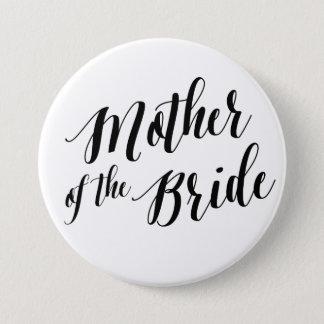 Mother of the Bride Black Script Button