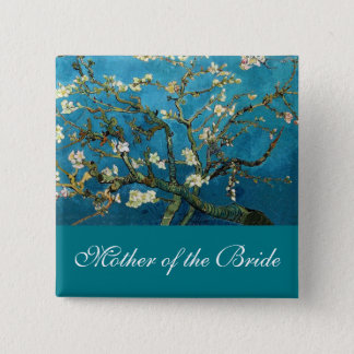 Mother of the bride Blossoming Almond tree Button