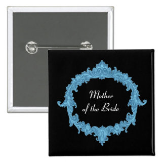 MOTHER OF THE BRIDE Blue Black Vintage V13 Button