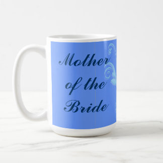 Mother of the Bride Blue Scroll Mug