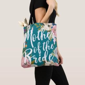 Mother of the Bride Brushed Floral Wedding Tote
