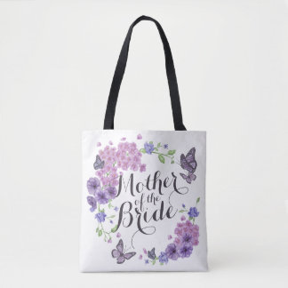 Mother of the Bride Butterflies Wedding Tote Bag