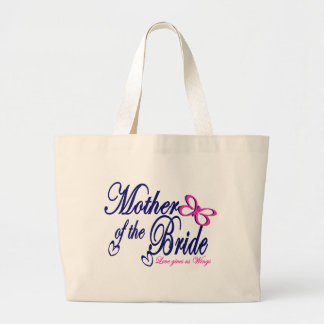 Mother of the Bride/ Butterfly Large Tote Bag
