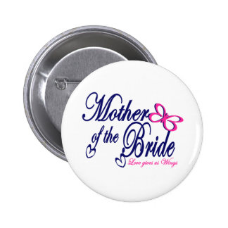 Mother of the Bride/ Butterfly Pinback Button