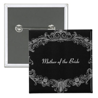 MOTHER OF THE BRIDE Button Black Vintage V04