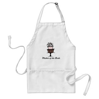 Mother of the Bride Cake Adult Apron