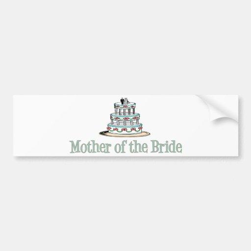 Mother Of The Bride (Cake) Car Bumper Sticker