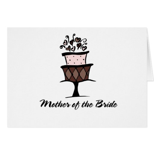 Mother of the Bride Cake Cards