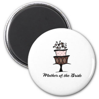 Mother of the Bride Cake Fridge Magnets
