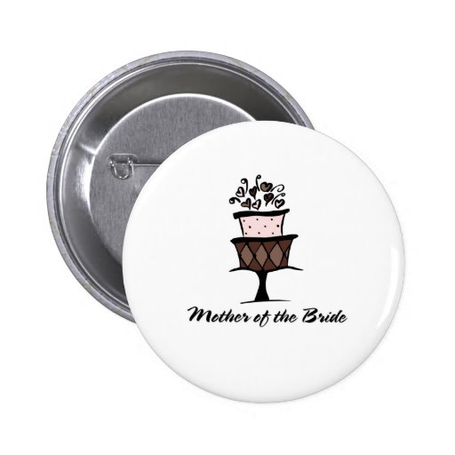 Mother of the Bride Cake Pins